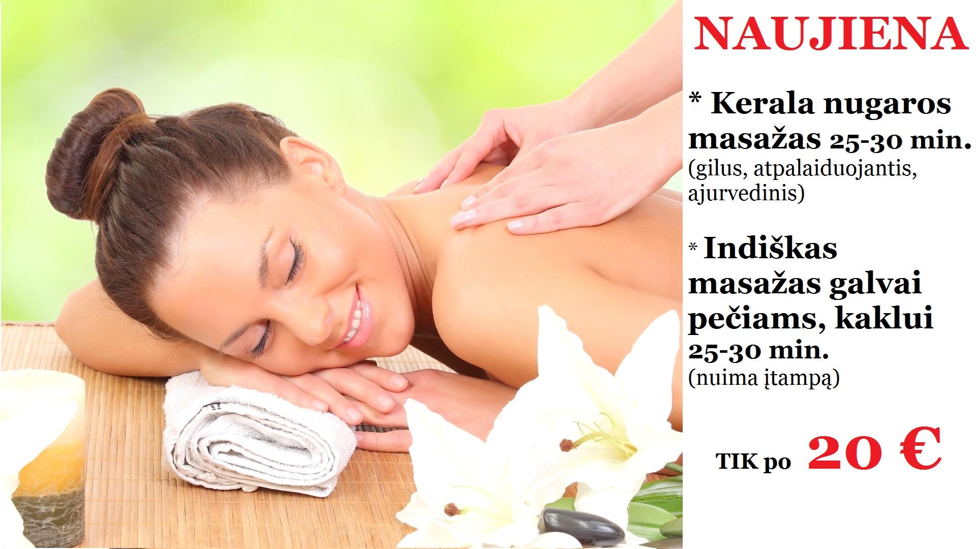 Kerala nugaros masažas